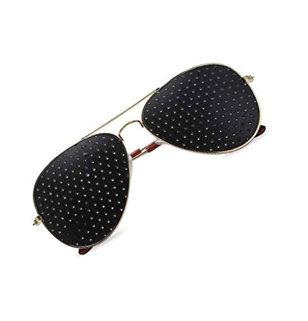 エキス子犬控えるピンホールメガネ、視力矯正メガネ網状視力保護メガネ耐疲労性メガネ近視の防止メガネの改善