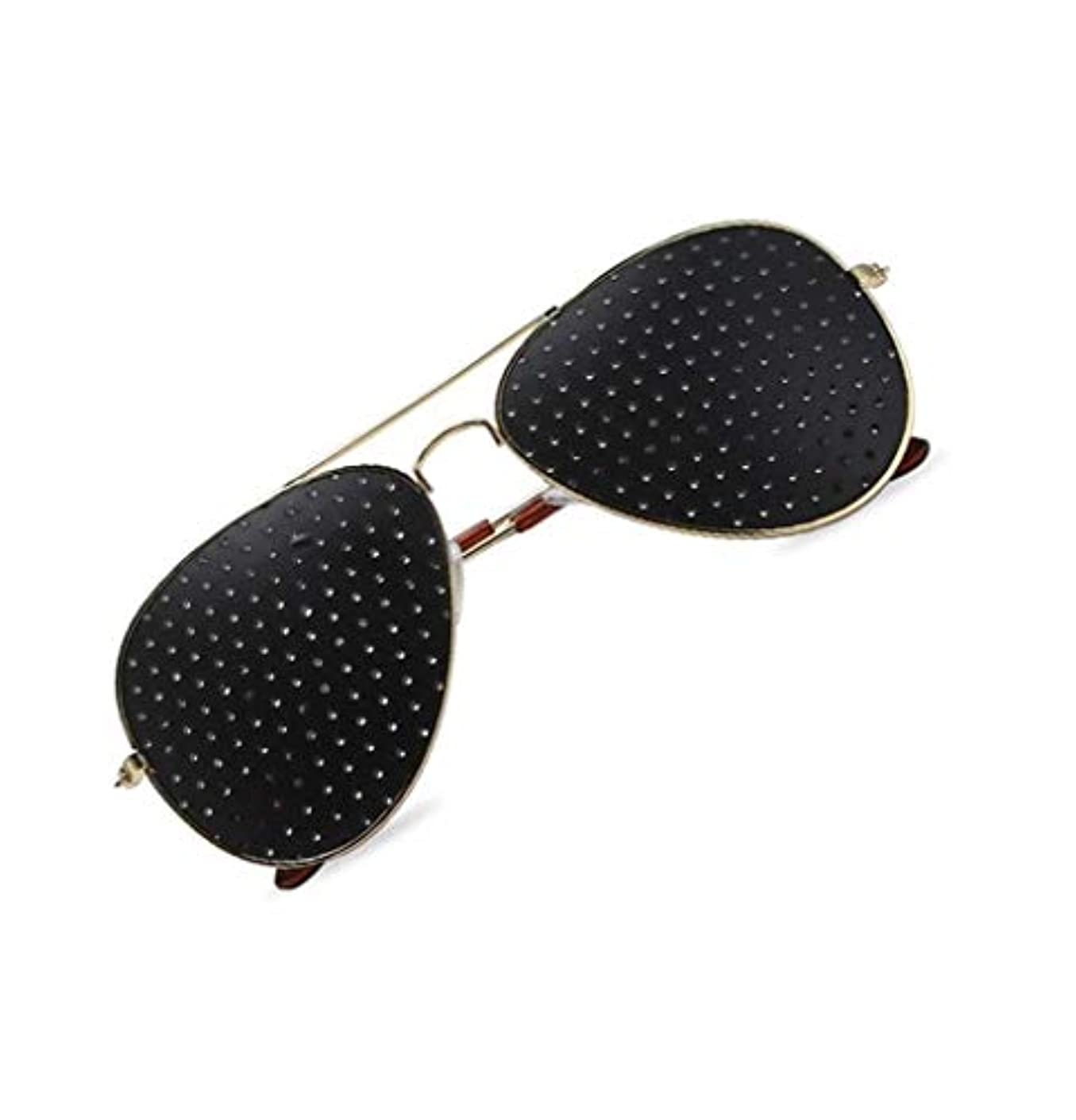 アパート卒業夢中ピンホールメガネ、視力矯正メガネ網状視力保護メガネ耐疲労性メガネ近視の防止メガネの改善
