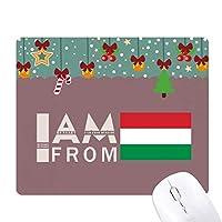 私はハンガリーから来ました ゲーム用スライドゴムのマウスパッドクリスマス