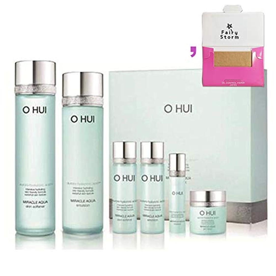 冬材料アメリカ[オフィ/O HUI]韓国化粧品LG生活健康/O HUI MIRACLE AQUA SPECIAL 2EA SET/ミラクルアクア 2種セット+[Sample Gift](海外直送品)