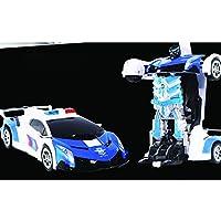 ACHICOO RCカー 2.4G 電気 空気ジェスチャー ロボットおもちゃ 子供 988-1パトカーランボー