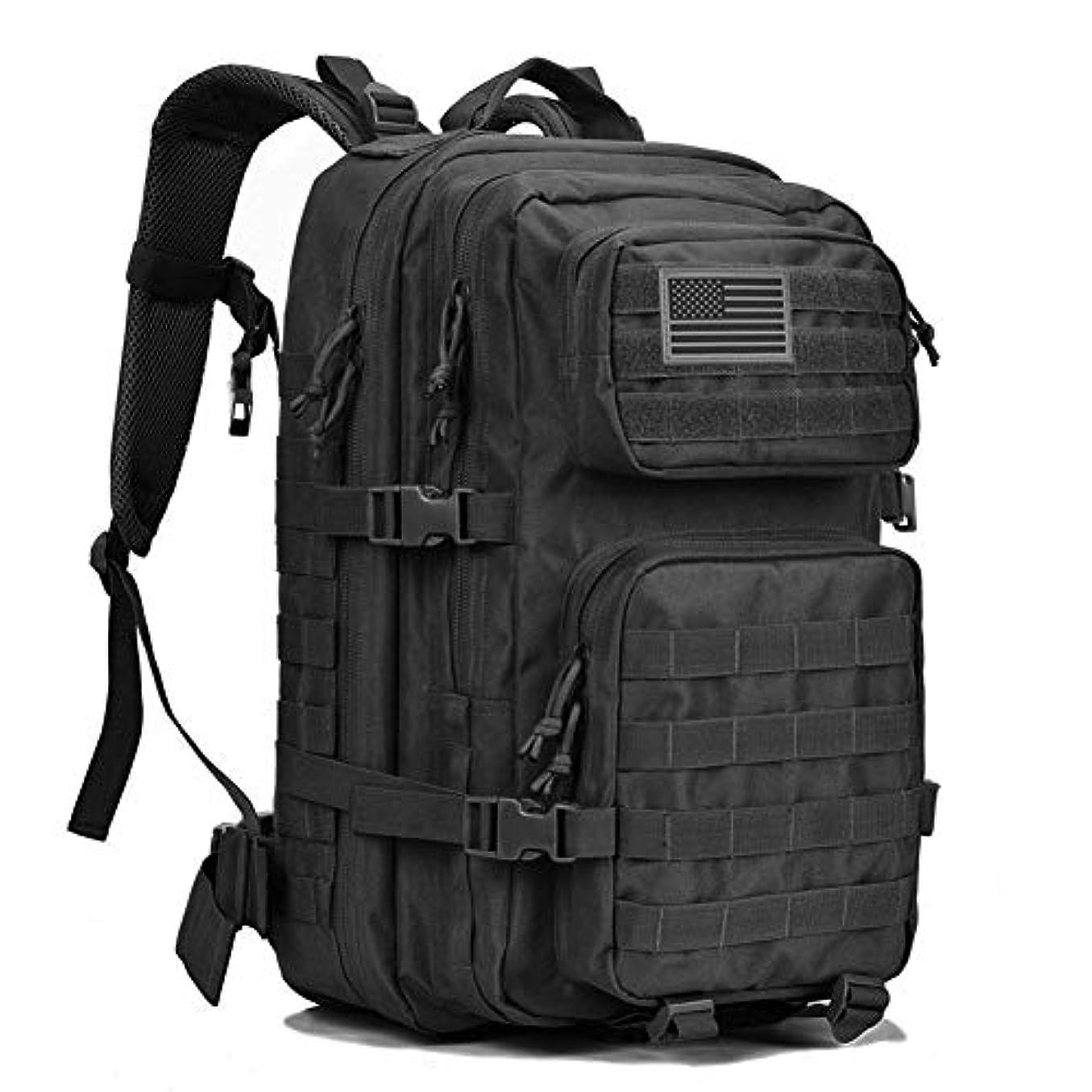 聖なるハブ裕福なREEBOW GEAR Military Tactical Backpack Large Army 3 Day Assault Pack Molle Bug Out Bag Backpacks Rucksacks for Outdoor Hiking Camping Trekking Hunting Black [並行輸入品]
