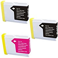 Amsahr Compatible Ink Cartridge Replacement for Brother LC51, SET3 Brother LC51BK, DCP130C, 540CN [並行輸入品]