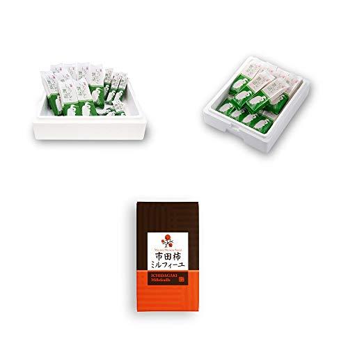 [3点セット]しらさぎ物語 食べ比べセット(サンドアイスクリーム8個・焼菓子8本)・涼菓 しらさぎ物語サンドアイスクリームセット(10個入)・カルピスバター使用 市田柿ミルフィーユ(100g)