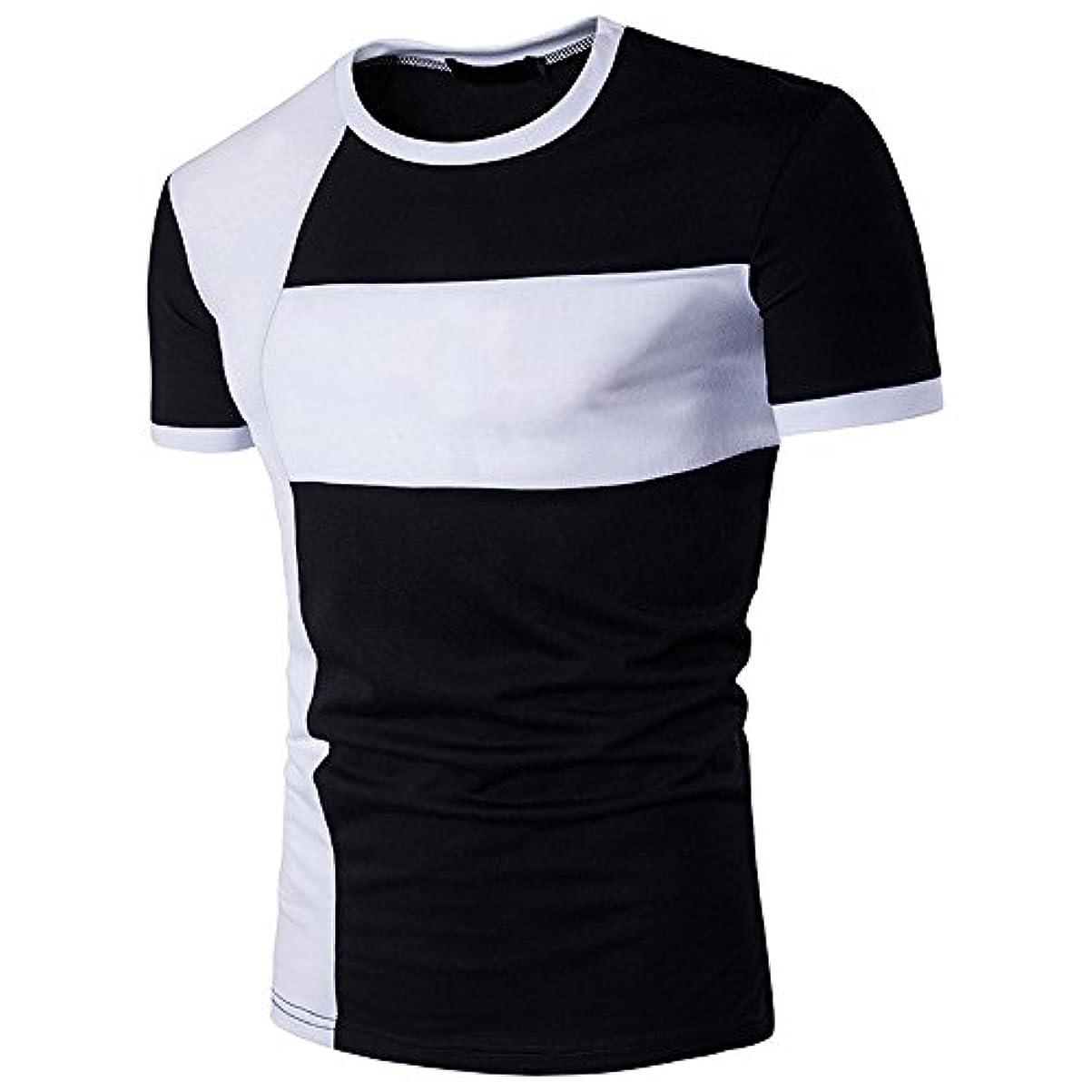 試してみるレールはっきりしないPlojuxi Tシャツ メンズ 半袖 オシャレ おおきいサイズ 無地 切り替え 赤 黒 白 tシャツ おもしろ おしゃれ クルーネック 柔らかい ファッション 丸首 春 夏 個性 カジュアル スポーツ シンプル 速乾 快適