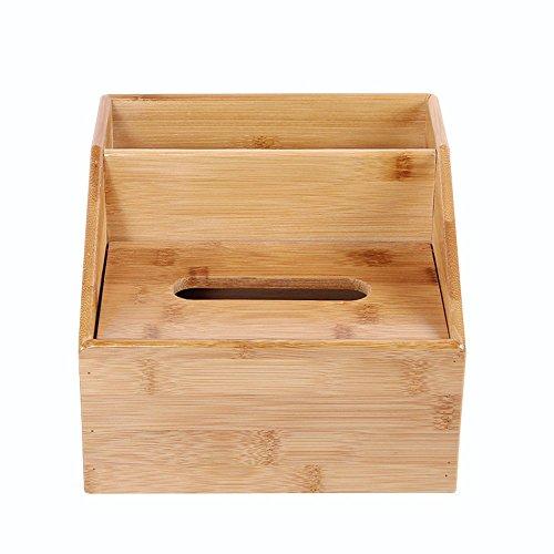 kagoMsa 収納ボックス ティッシュケース 竹製 卓上収納ケース 実用 多機能 ホーム カバー ホルダー 小物入れ 収納に便利 BOX
