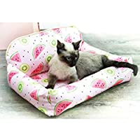ペット用ベッド S 撥水 接触冷感 通気性よい もこもこ 春夏用 小/大型犬 猫 ひんやり 熱中症防 暑さ対策 噛み耐え 洗える 簡易 ぐっすり眠る ソフト スクエア クッション
