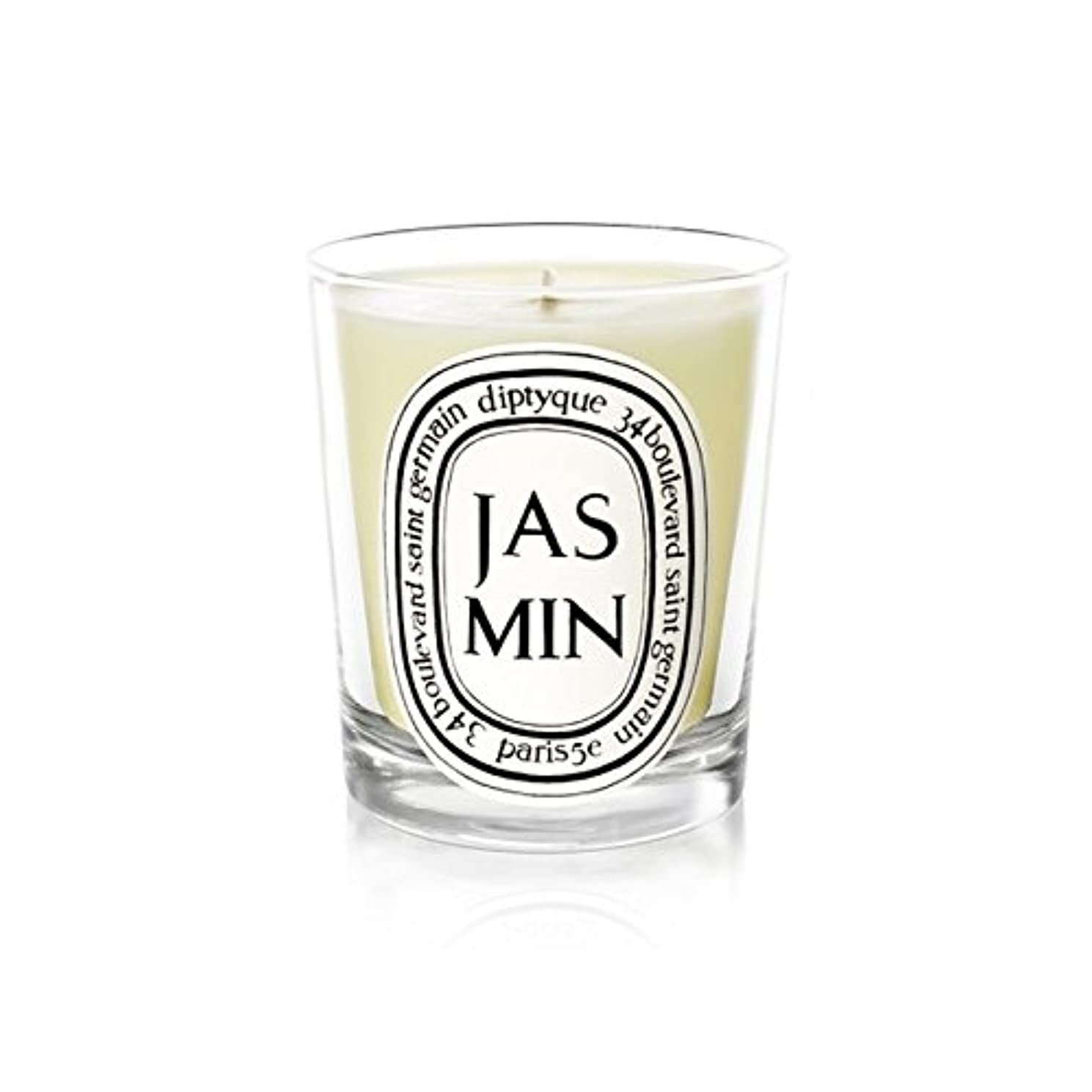 不実トイレ文Diptyque Candle Jasmin / Jasmine 190g (Pack of 2) - Diptyqueキャンドルジャスミン/ジャスミン190グラム (x2) [並行輸入品]