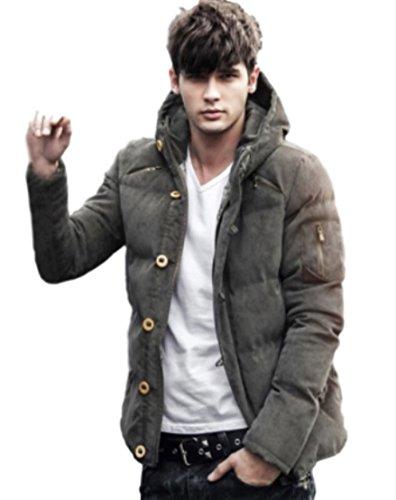 (マガザンレーブ) mgzan rev メンズ ファッション 冬 服 カジュアル ダウン ジャケット アウター フード 付き 防寒着 上着 3 色 M ~ XL DA-5 (03.カーキ(XL))