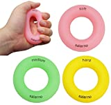 Salerno(サレルノ) ハンドエクササイズリング リング型ハンドグリップ (硬さ3種:ソフト・ミディアム・ハード) 握力トレーニング リハビリ