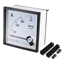 uxcell 電流パネルメーター アナログ電流計 AC 0-1200A 電子回路 調整可能 SJ-96 1.5%