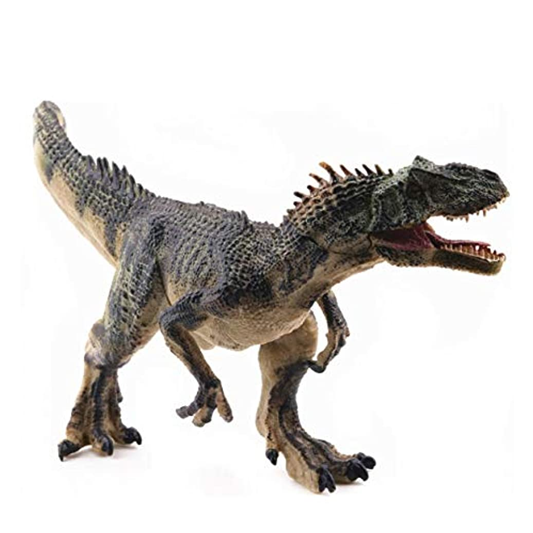 フィールド守る層Saikogoods シミュレーションアロサウルスリアルな恐竜の模型玩具置物アクションは 子供のためのホームインテリア教育玩具フィギュア 緑