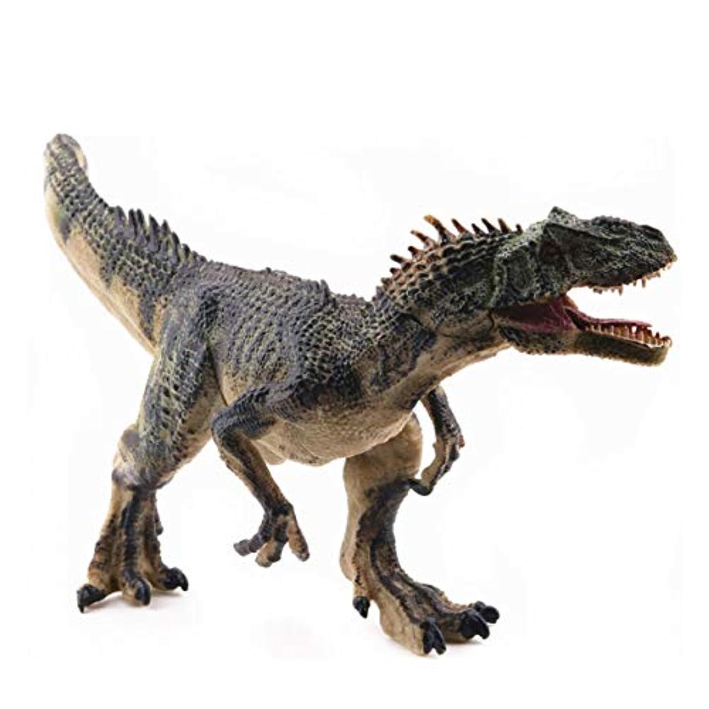 ガソリン世界記録のギネスブック子供っぽいSaikogoods シミュレーションアロサウルスリアルな恐竜の模型玩具置物アクションは 子供のためのホームインテリア教育玩具フィギュア 緑