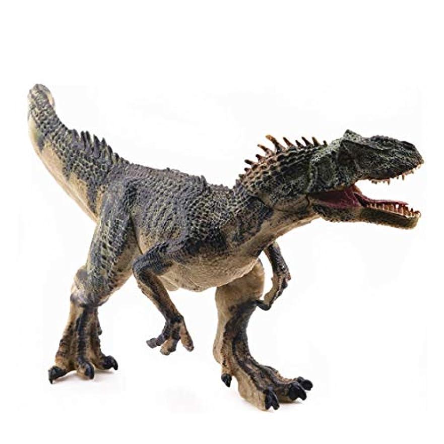 思慮のない性格プラットフォームSaikogoods シミュレーションアロサウルスリアルな恐竜の模型玩具置物アクションは 子供のためのホームインテリア教育玩具フィギュア 緑