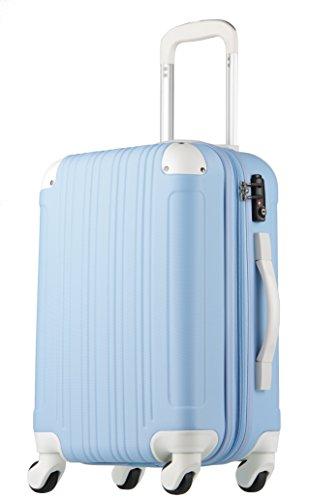 スーツケース キャリーケース キャリーバッグ 安心1年保証 機内持ち込み 可 ファスナー 傷が目立ちにくい SS サイズ 1日 2日 3日 TSAロック ハードキャリー 拡張 ジッパー 全サイズ 有り 5082-48 ブルー/ホワイト