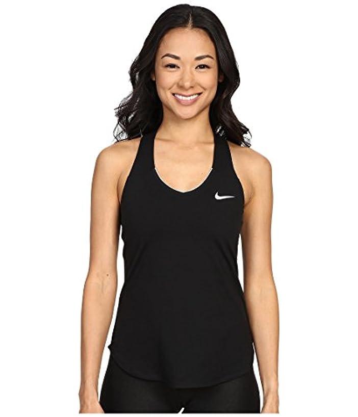肥沃な荒らす食料品店(ナイキ) NIKE レディースタンクトップ?Tシャツ NIKE Court Team Pure Tennis Tank Top Black/White M