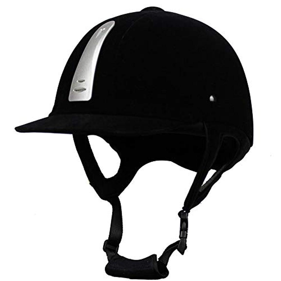 夕暮れ束ゲージQRY オートバイ 乗馬用ヘルメット乗馬用ヘルメットアウトドアスポーツ馬用ヘルメット乗馬用品ブラックユニバーサル 幸せな生活 (色 : Black 1, Size : L)