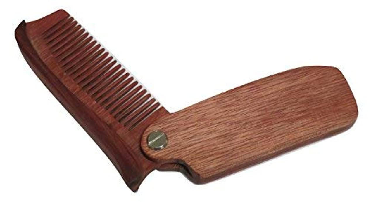 エール展示会補足TrendyLuz Wooden Folding Wood Comb Pocket Size Head Facial Hair Beard Mustache [並行輸入品]