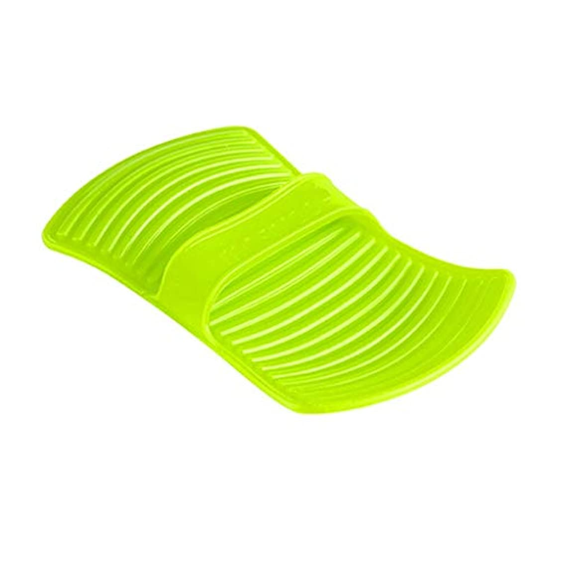 一目ビルダー選択LIUXIN シリコーン断熱材不凍液手袋高温焼け防止手袋家庭用ベーキング手袋滑り止め11.7 * 20.5センチグリーン×1 ゴム手袋