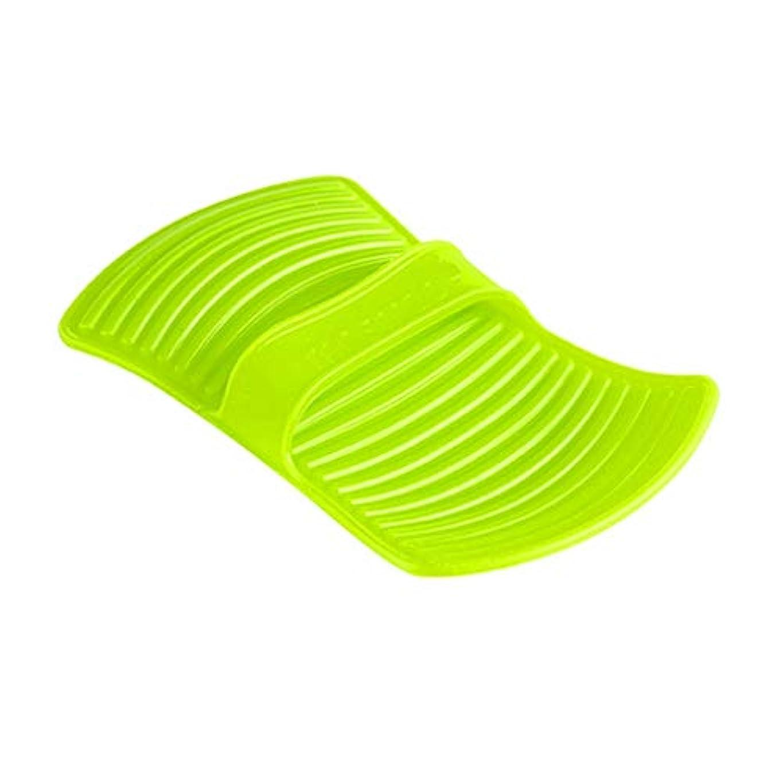 服を着る回るくつろぎLIUXIN シリコーン断熱材不凍液手袋高温焼け防止手袋家庭用ベーキング手袋滑り止め11.7 * 20.5センチグリーン×1 ゴム手袋