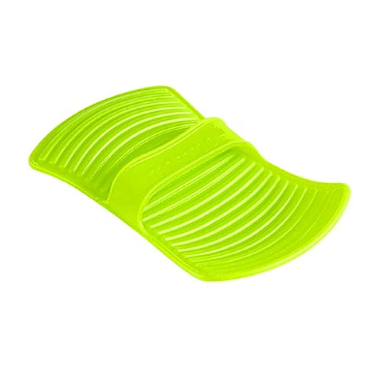 盆社員追跡LIUXIN シリコーン断熱材不凍液手袋高温焼け防止手袋家庭用ベーキング手袋滑り止め11.7 * 20.5センチグリーン×1 ゴム手袋