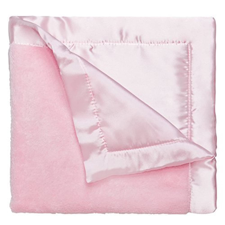 Elegant Baby Ultra Plush Blankie, Satin Border and Back Blankie 20 x 20 Inch in Pastel Pink by Elegant Baby [並行輸入品]