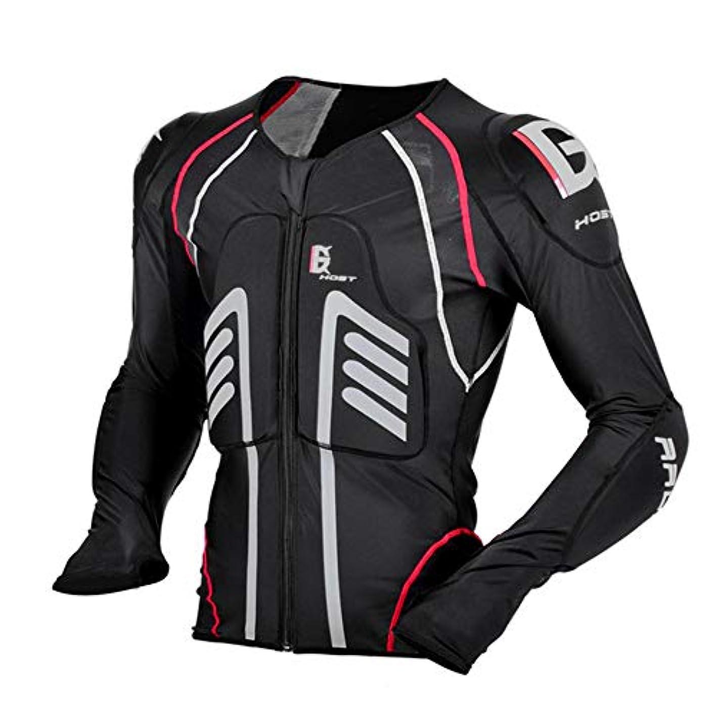円形の時制閉塞GHOST RACING 上半身用ボディープロテクター 脊椎 胸部ガード チェスト バイクレーシング ツーリング ハードエルバー 安全