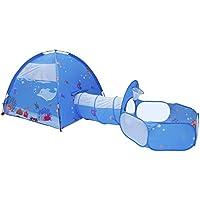 Homfu 子供用テント セット 折り畳み式 トンネル ボールプール  子ども室内テント  お誕生日 出産祝いのプレゼント