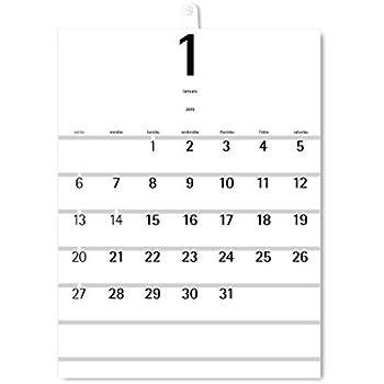 2019年度版 aruデザインカレンダー 壁掛け WHG-02