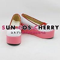 【サイズ選択可】コスプレ靴 ブーツ K-915 カードキャプターさくら 木之本 桜 女性24CM