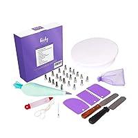35個入りケーキデコレーション用品キット初心者向け - ケーキデコレーションセット、ケーキデコレーションペン、ベーキング用品キット