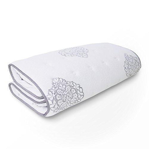マットレスを高級ベッドに大変身 【フェリーチェ】 極厚トッパー+ボックスシーツ 高級ホテルのベッドのような寝心地 簡単取り付け (シングル)