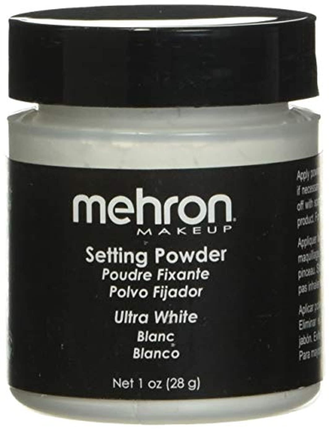 酸化物側溝利得mehron UltraFine Setting Powder with Anti Perspriant Ultra White (並行輸入品)