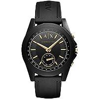 Armani Exchange Black Silicone Hybrid Smartwatch AXT1004