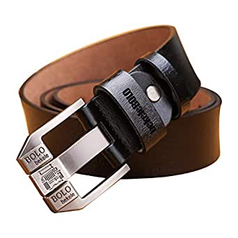 CUTEKOLVE ベルト メンズ 本革 ビジネス カジュアル ブランド サイズ調整可能 ギフトBOX付 (棕色, 110cm)