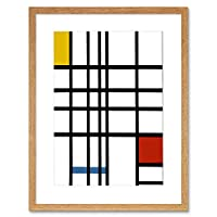 Piet Mondrian Cubes Old Master Reproduction Framed Wall Art Print