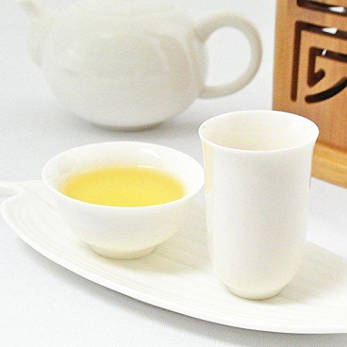 白磁の中国茶器・品茗杯と聞香杯、茶托三点セット 杯20ml