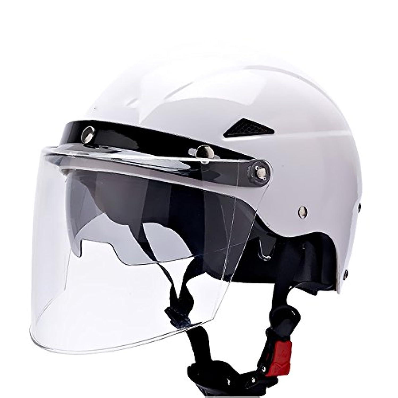 予見するオデュッセウスゴミ四季オートバイヘルメット男性夏二重レンズ日焼け止め夏通気性半カバー電気自動車の安全ヘルメット