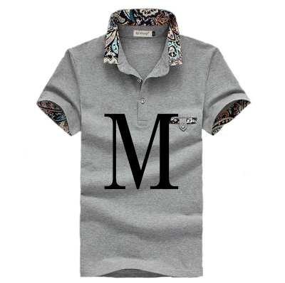 (メイク トゥ ビー) Make 2 Be メンズ カジュアル 花柄 ポロシャツ ゴルフ KB16 (00グレー_M)