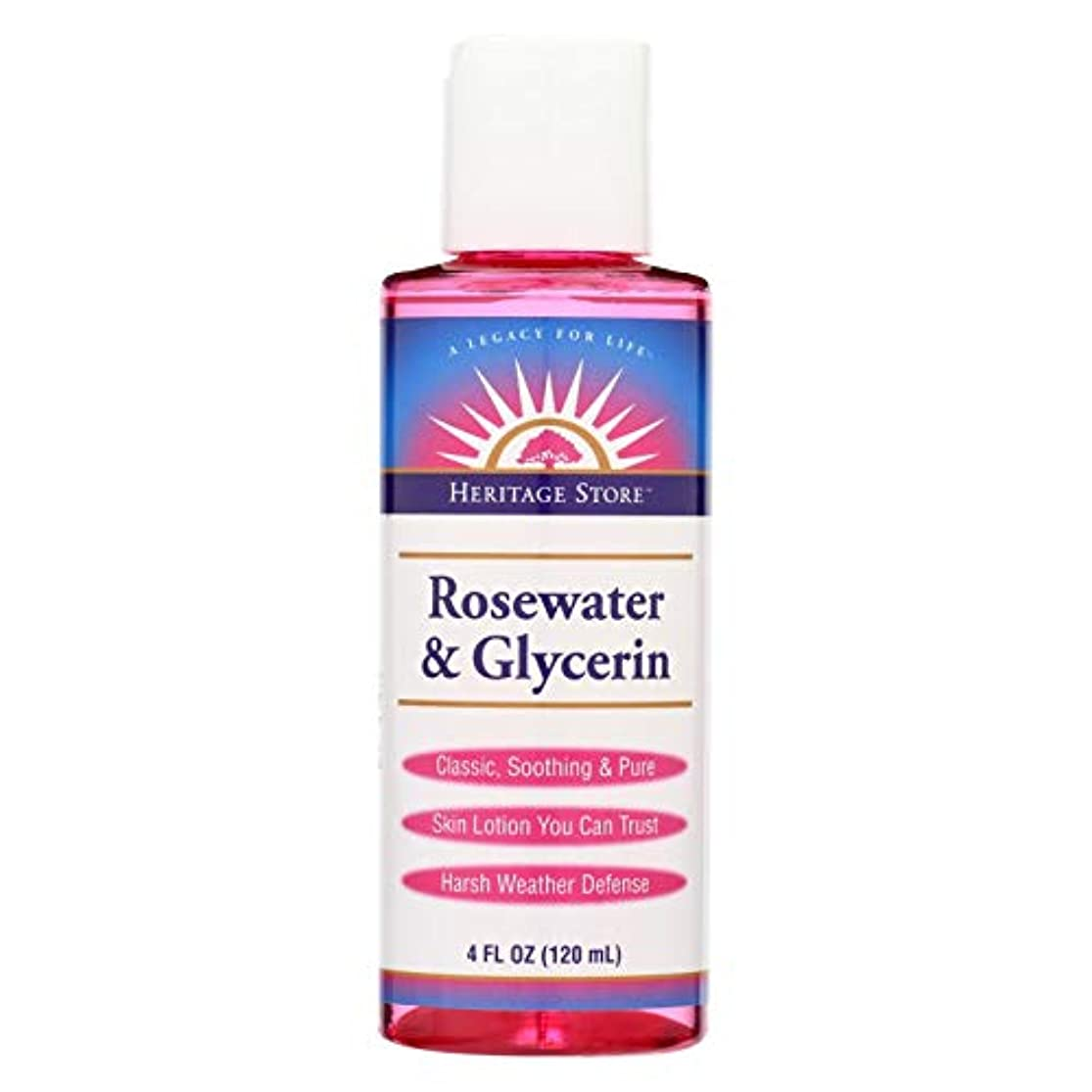 マインドお互い亜熱帯海外直送品Heritage Products Rosewater & Glycerin, 4OZ