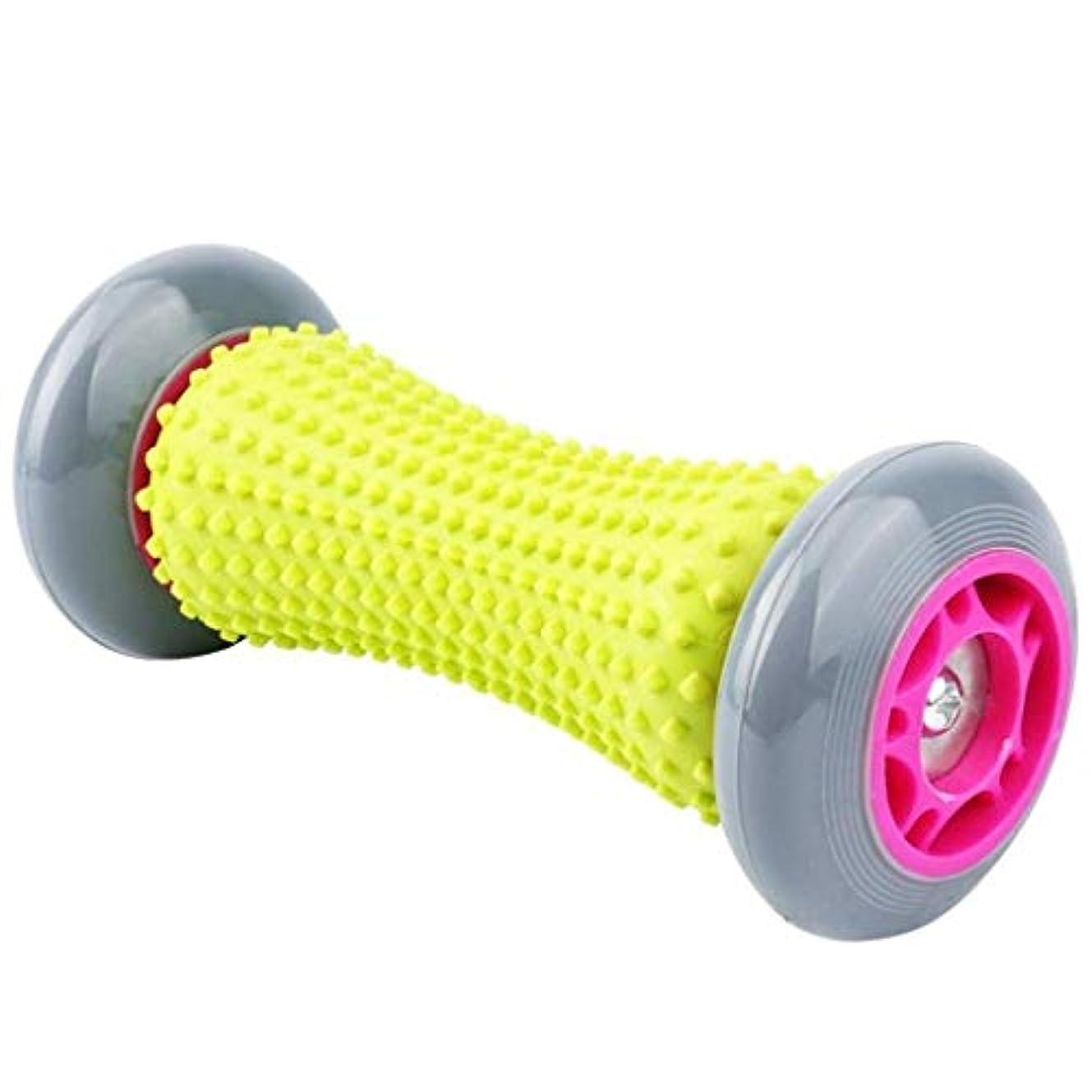 型名義で一足底筋膜炎とリフレクソロジーマッサージを緩和するために使用されるフットマッサージャー、フットマッサージボール、背中と脚のタイトな筋肉を回復するための深いツボ (Color : Grey)