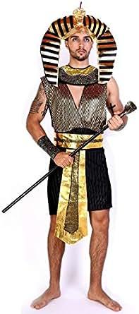 エジプト 衣裳 ファラオ コスプレ 衣装 キング 王 古代エジプト王 コスチューム メンズ 大人 黒 × 金 ワンサイズ