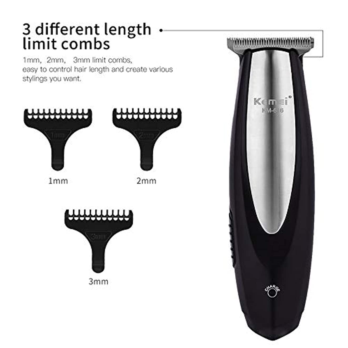 アクセル協会ながら電気バリカン充電式ヘアトリマーステンレス鋼ブレードヘア切断機髭剃りトリマー男性理髪店