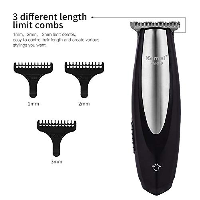 過度の繰り返した再生電気バリカン充電式ヘアトリマーステンレス鋼ブレードヘア切断機髭剃りトリマー男性理髪店