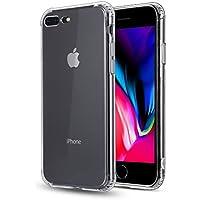 iPhone8 Plus/iPhone7 Plus ケース クリアケース TPU 超薄型ケース ストラップホール付き全面保護カバー 耐衝撃
