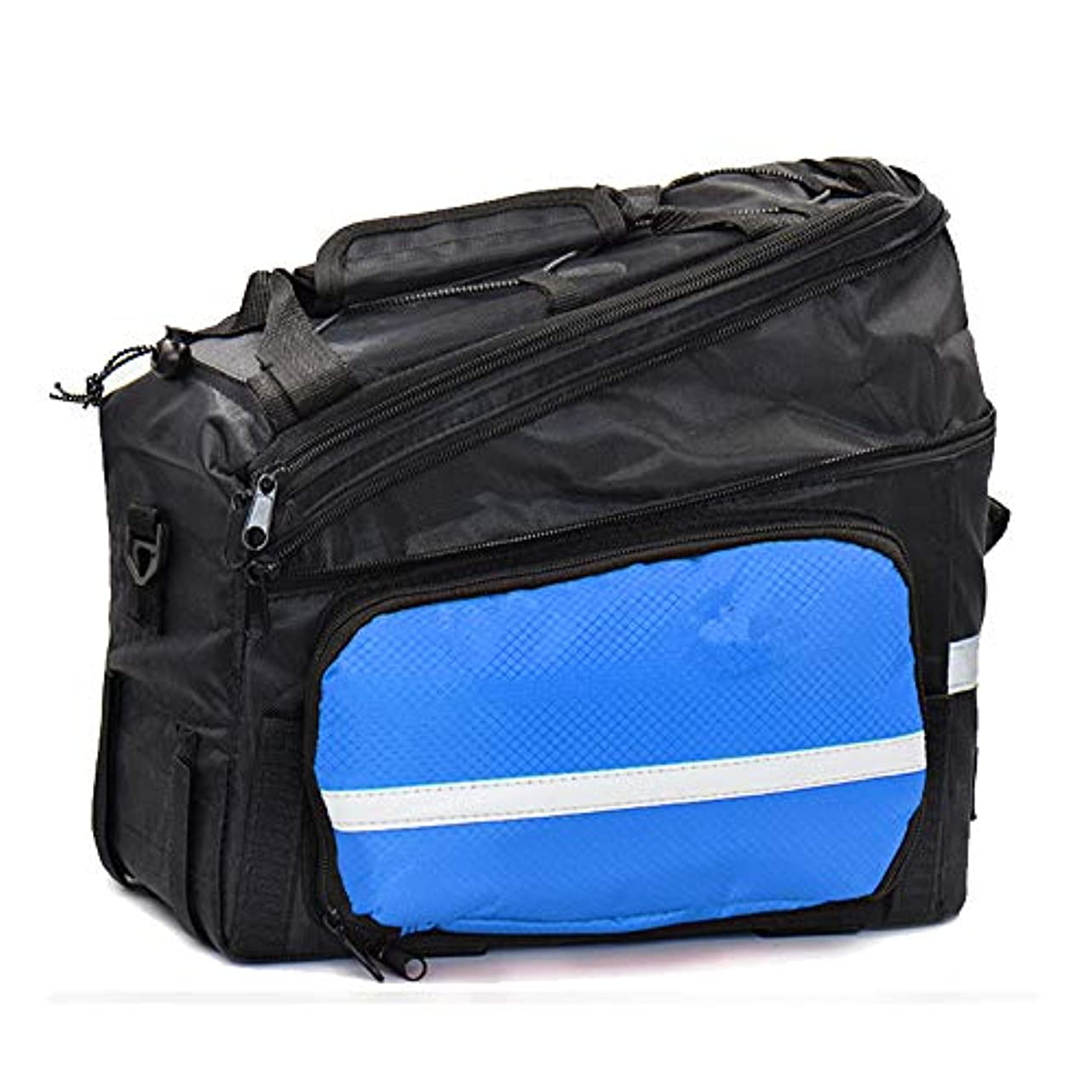 適応する邪魔する残基自転車バッグ 自転車パニエトランクバッグ、大容量防水自転車リアシートパニエフィット れ付き マウンテン/ロード/MTBバイク (色 : 青)