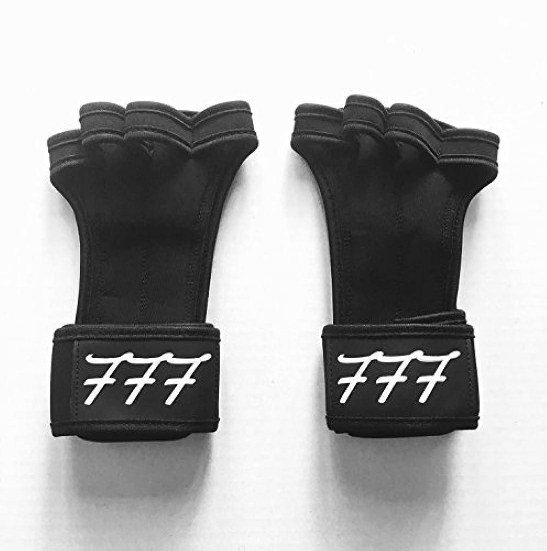 整理するパンリボン777ワークアウト用手袋Weighlifting、抱く、クロスフィット、HIITトレーニング、 – ボーナスeBook – シリコンパディングを防ぐために裂ける – anti-stink – 手首サポート