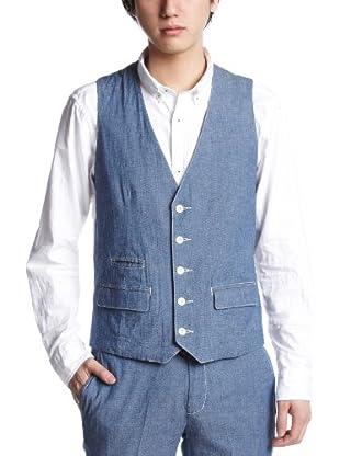 Cotton Waistcoat 114-71-0289: Chambray