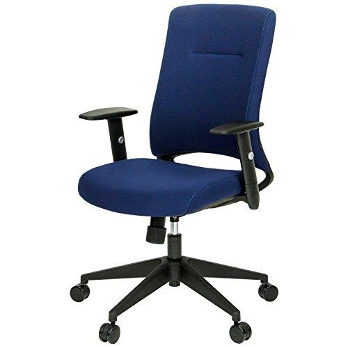 オフィスコム オフィスチェア パソコンチェア 可動ひじ付き ヘッドレストなし ネイビー LEPRO2-AM-NV