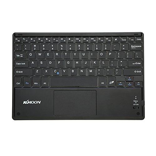 KKmoon 81キー Bluetoothキーボード ワイヤレスキーボード 無線 キーボード 超スリム薄型 タッチパッド付き Android 3.0 Windows XP 7 8に適用